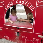 Sandcastle Playhouse Made with King ColorCore® in Red/White/Red