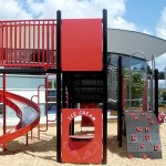 Sandcastle Playhouse Made with King ColorCore® Red/White/Red