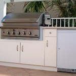 Outdoor Kitchen Cabinets Made with King StarBoard® ST Seafoam