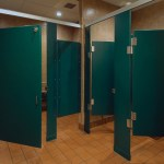Roadhouse Restroom Partitions Made with King Plasti-Bal® Emerald Blade Custom Color