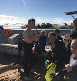 Beach – diving – July 2018