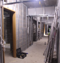 Corridor leading to changing rooms