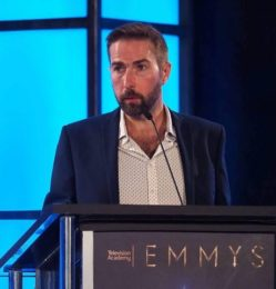 Kelvin Lawson – Director Lisden Technology – making his Emmy Awards acceptance speech