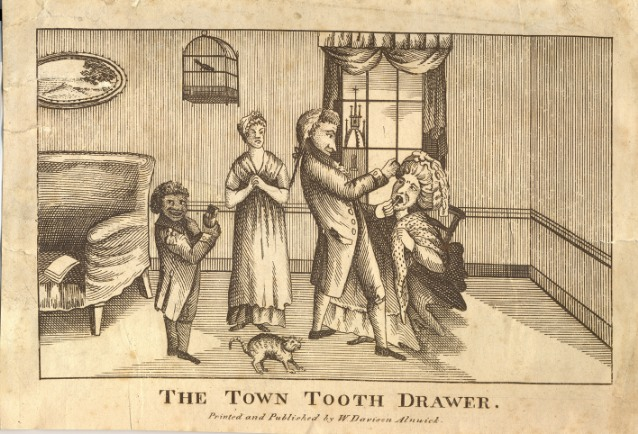 Town tooth drawer, published by William Davison, early 19th century (BDA Museum, ref: 10472)