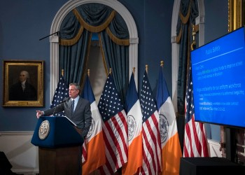 Mayor Bill de Blasio presents New York City's Preliminary Budget for Fiscal Year 2021. Blue Room, City Hall. Thursday, January 16, 2020. Credit: Ed Reed/Mayoral Photography Office.