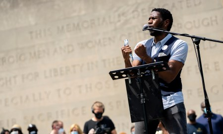 New York City Public Advocate Jumaane Williams openly criticized city and state elected officials who were on the stage with him at the memorial. (Photo by Tsubasa Berg)