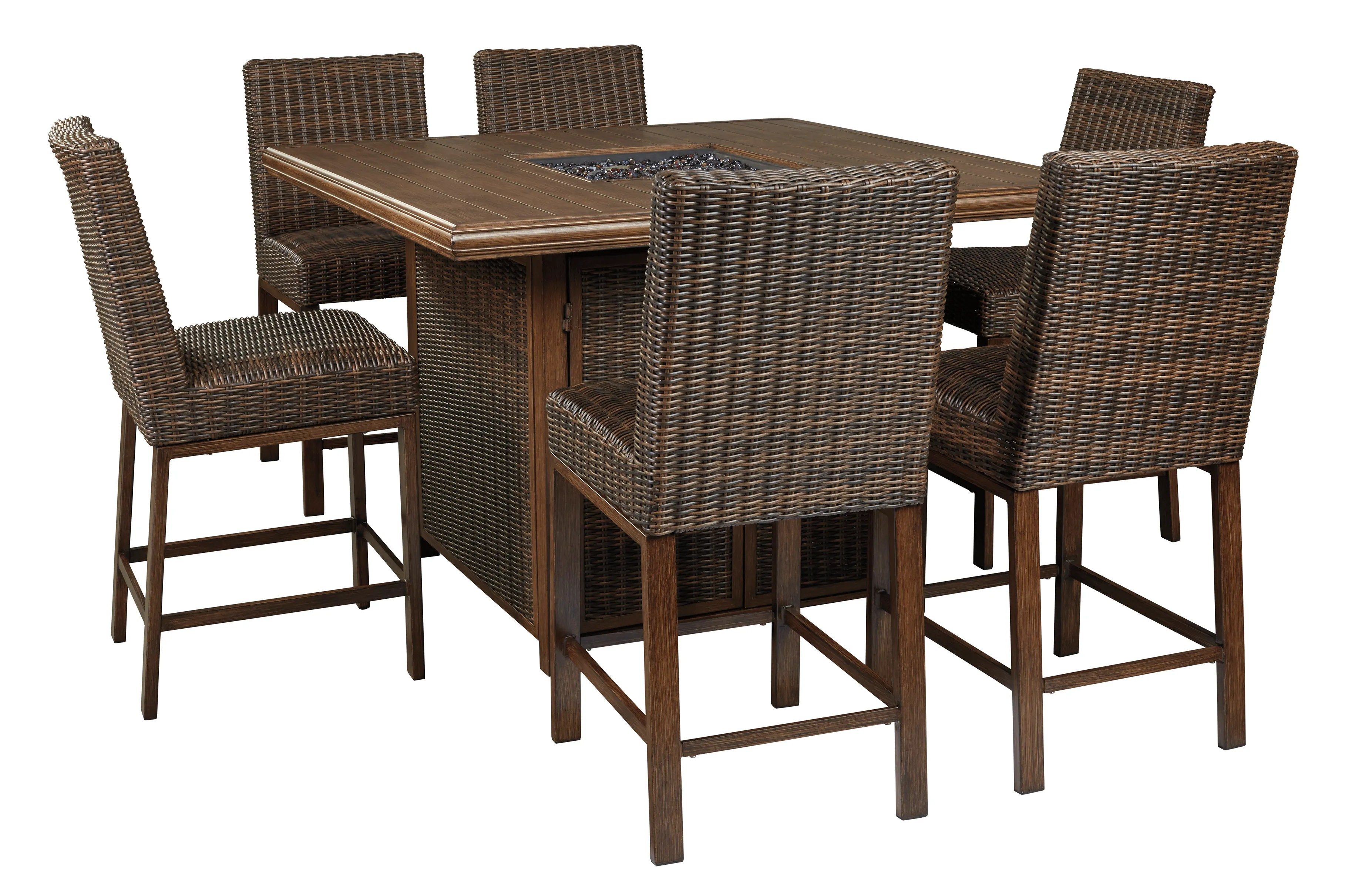 Signature Design By Ashley Paradise Trail 5 Piece Outdoor