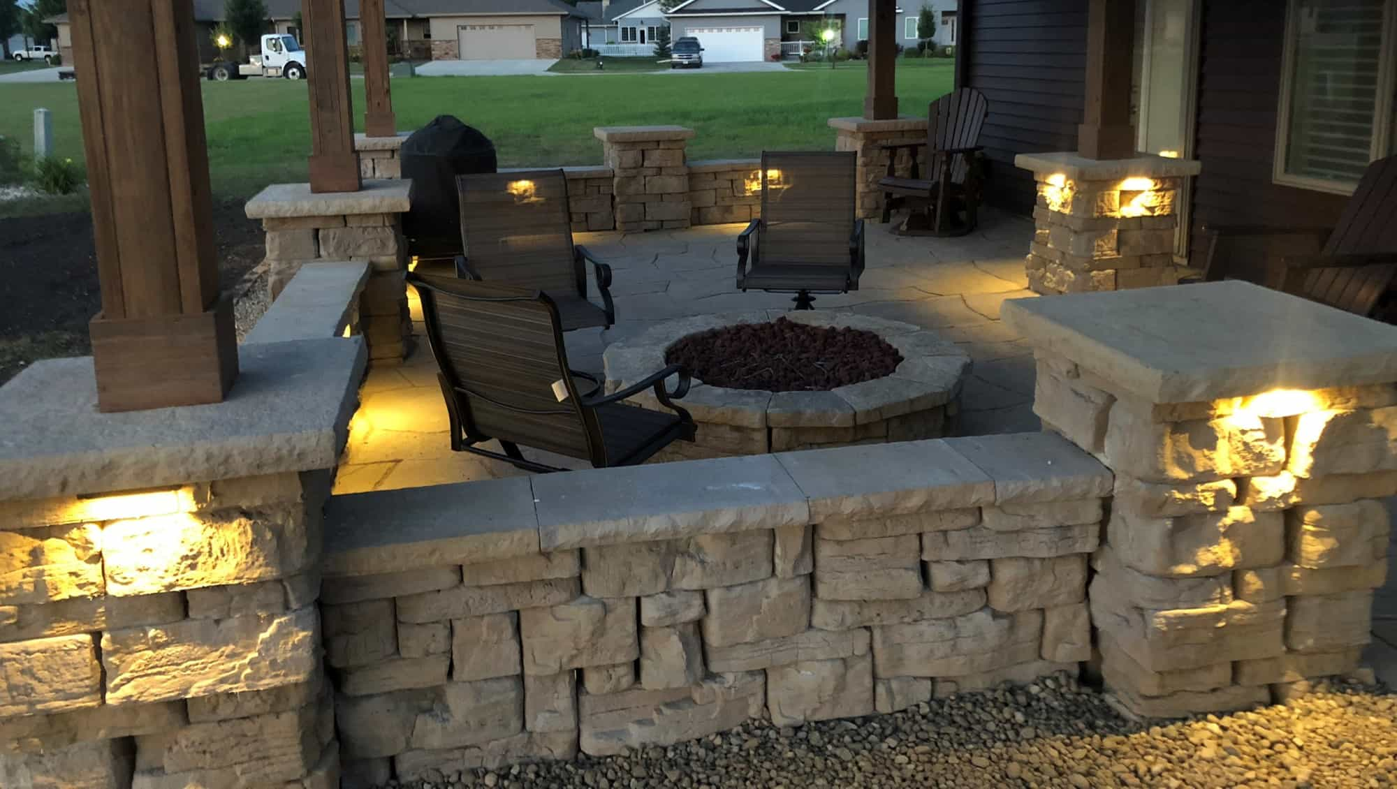 Rosetta Hardscapes Outdoor Firepit