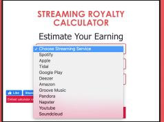 Streaming Royalty Calculator. Check how much Spotify pays for 1000 streams, tidal streams, apple music streams, google play, Shazam, youtube and many other streaming platforms.