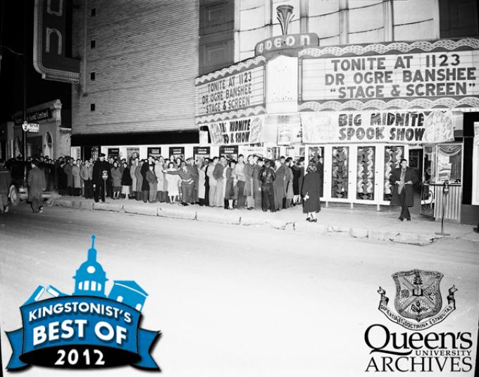 Odeon Theatre Crowd Shot, 17 November 1948 (George Lilley fonds V25.5 6-332)