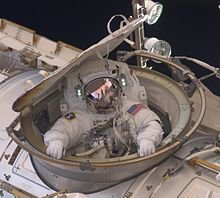 Commander Feustel aboard the International Space Station.
