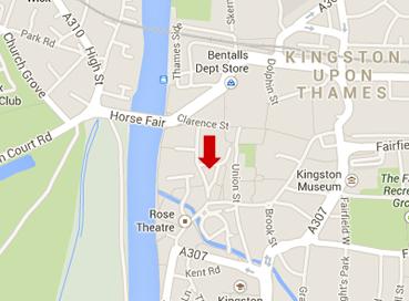 Kingston map Market Square