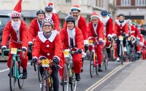 Santa Charity Cycle Kingston on Thames