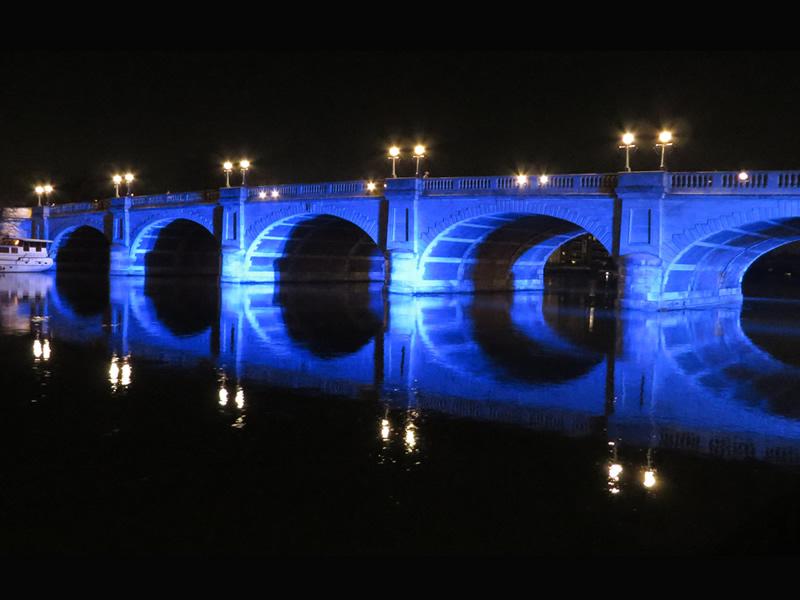 Kingston Bridge At Night