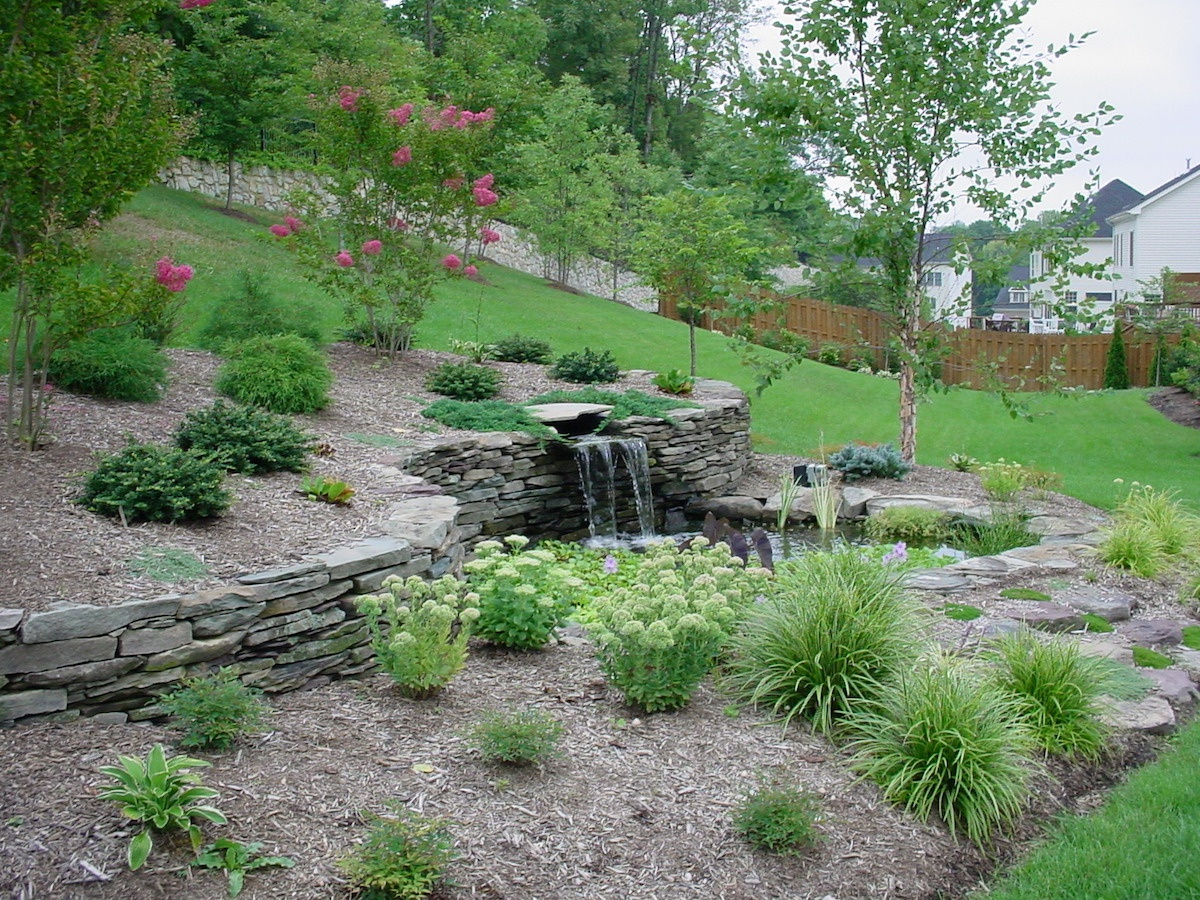 Landscaping Slopes: Ideas, Photos, and Considerations for ... on Backyard With Slope Ideas  id=79384