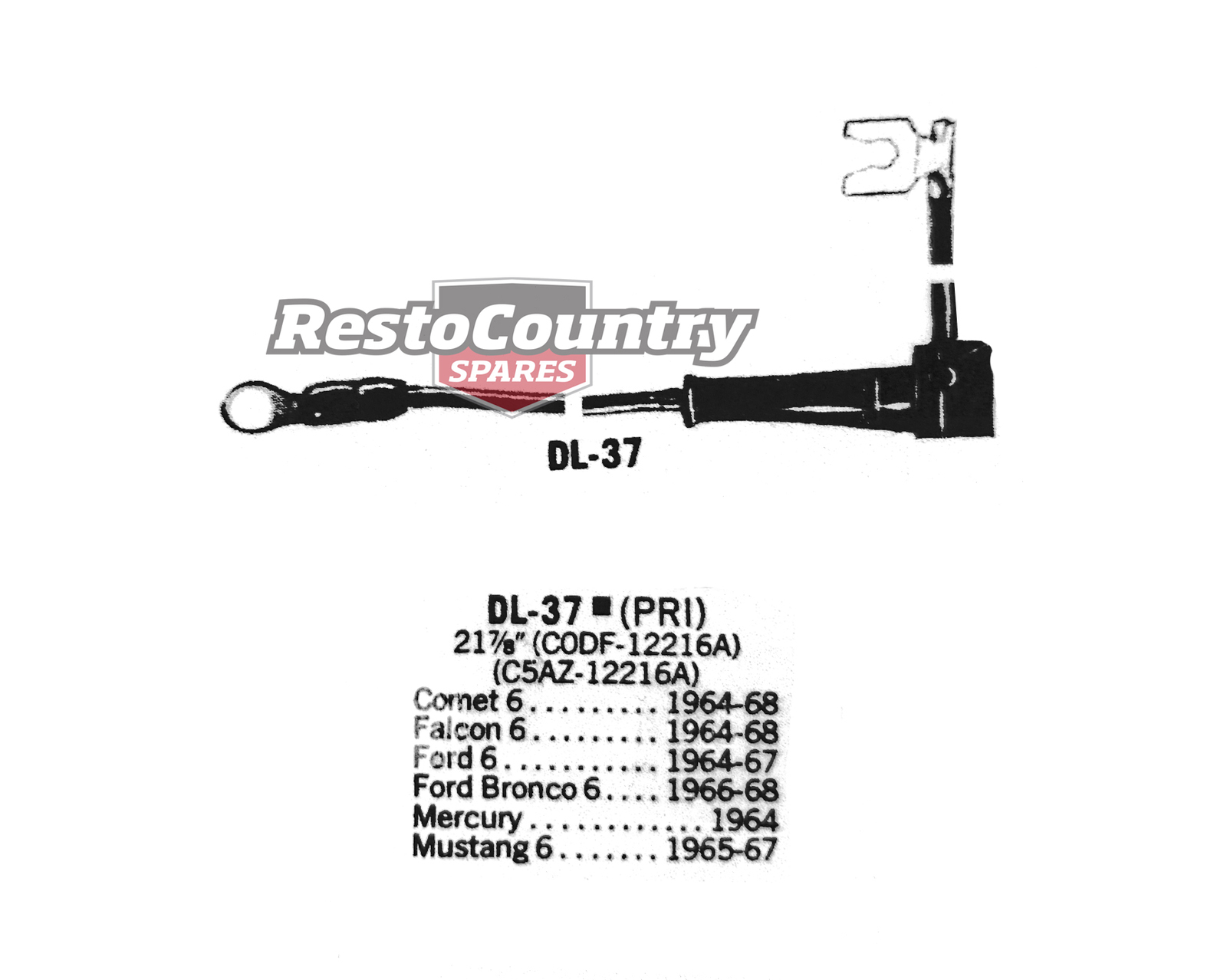 Ford Distributor Primary Lead Ignition Wire Dl 37 6cyl