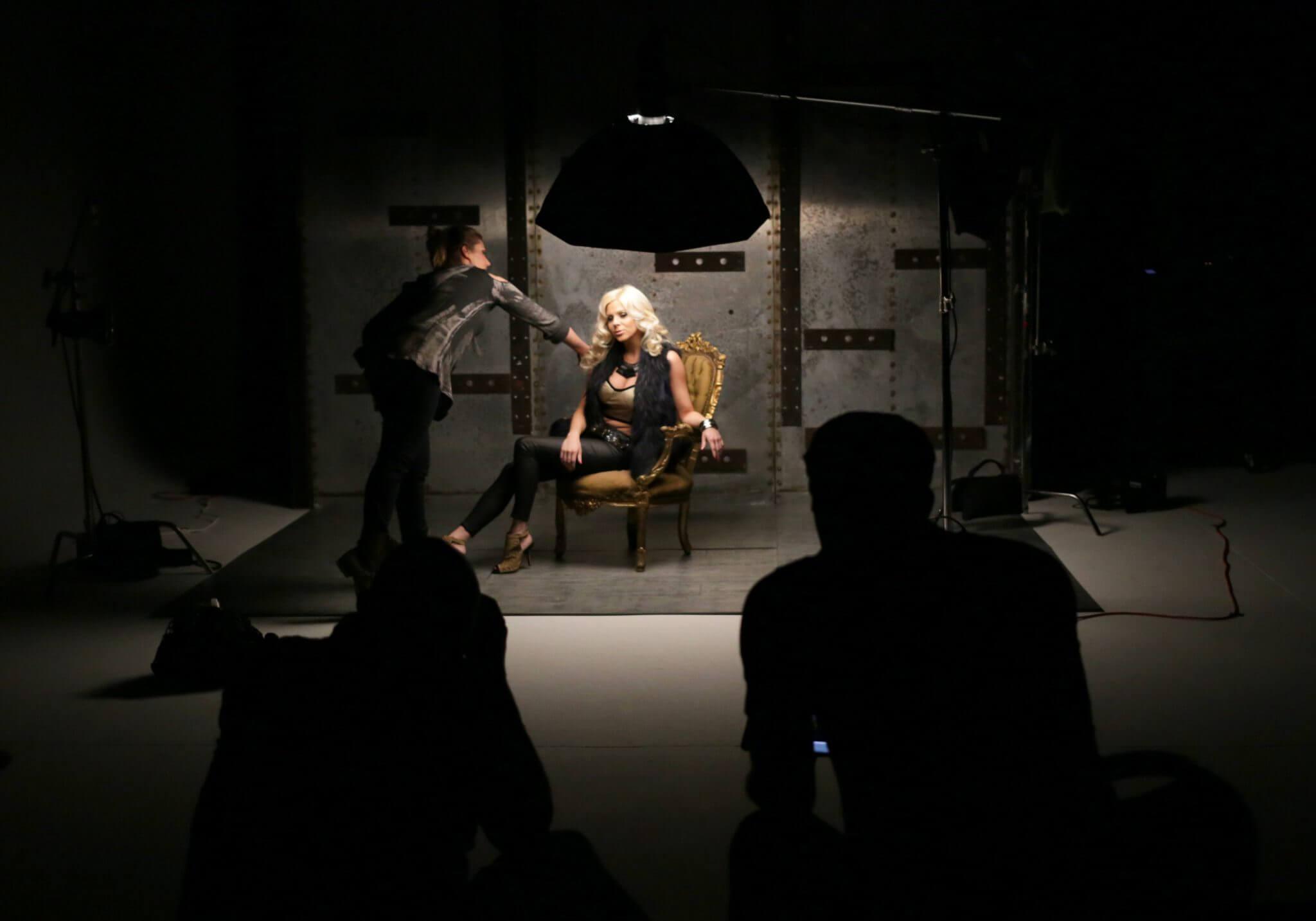 Dramatic photo shoot