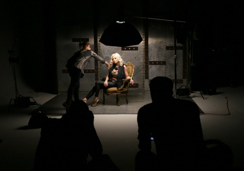 Dramatic photo shoot in Kingswood's video studio