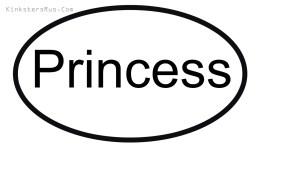 Princess Oval Vinyl Decal