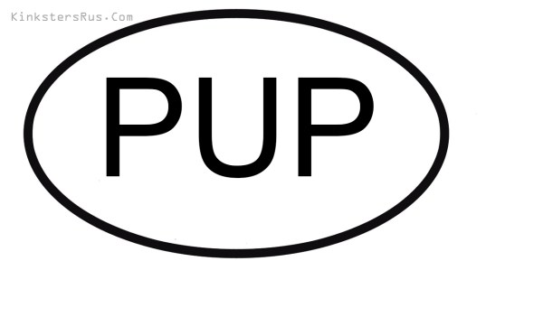 Pup Oval Vinyl Decal