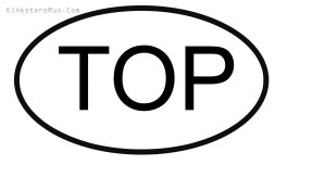 TOP Oval Vinyl Decal