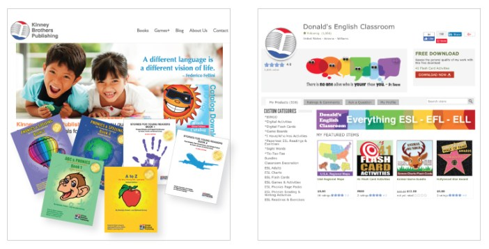 Kinney Brothers Publishing Donald's English Classroom