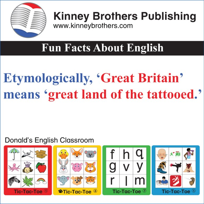 Fun Facts About English 8 KInney Brothers Publishing