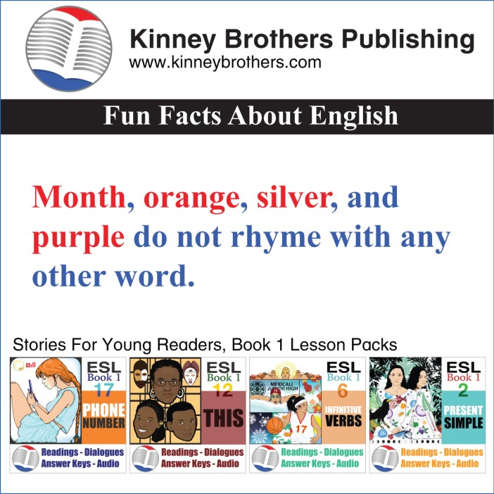 fun facts about English 11 Kinney Brothers Publishing