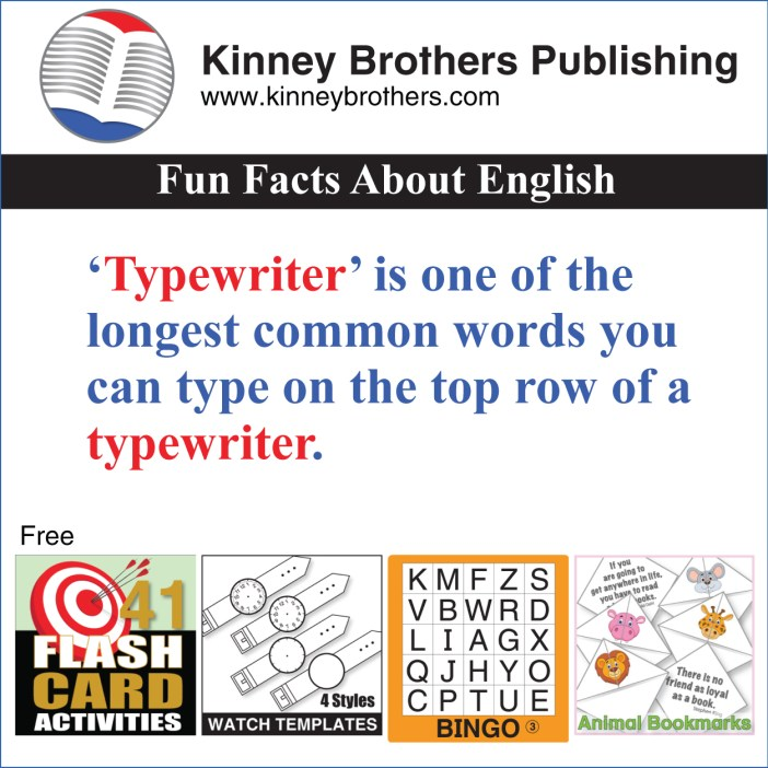 Kinney Brothers Publishing Fun Facts About English 43