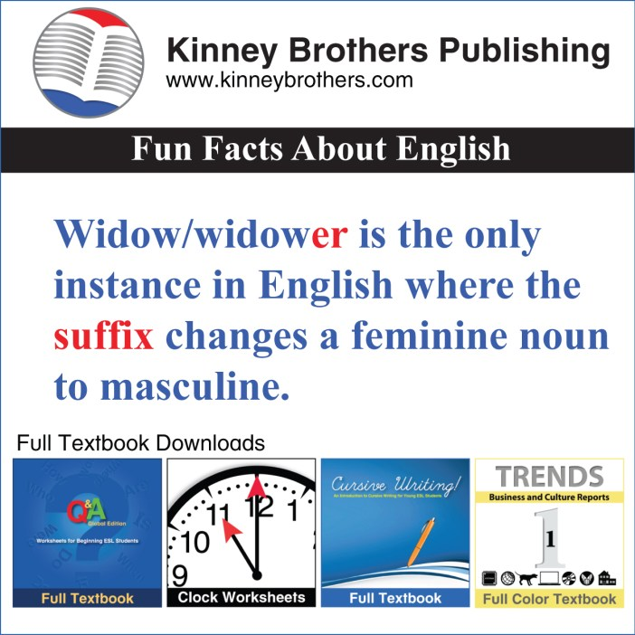 Fun Facts About English 57 Kinney Brothers Publishing