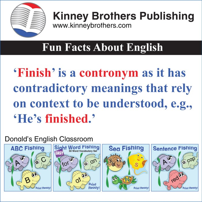 Kinney Brothers Publishing contronyms