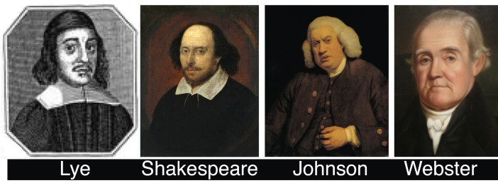 Lye, Shakespeare, Johnson, and Webster
