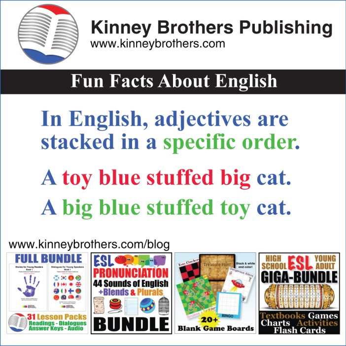 Kinney Brothers Publishing Stacked Adjectives