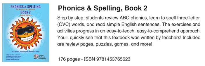 Phonics & Spelling, Book 2 Kinney Brothers Publishing