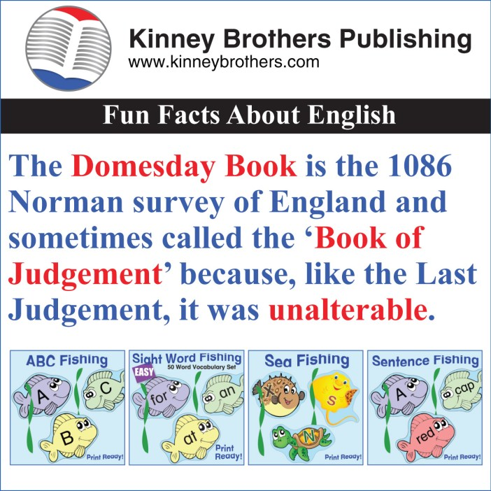 Kinney Brothers Publishing Fun Facts About English English History 2