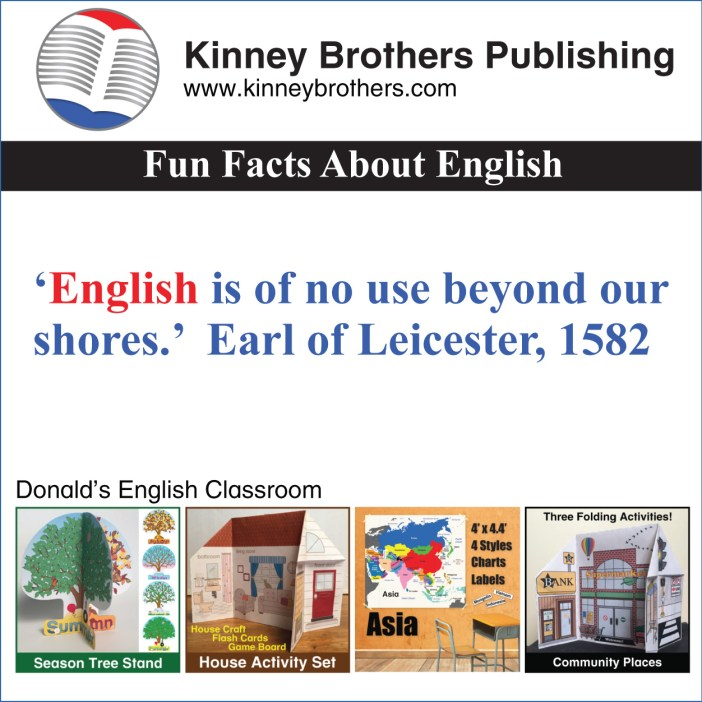 Kinney Brothers Publishing Donald's English Classroom Fun Facts About English 100