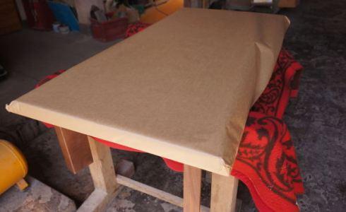 一枚板の梱包