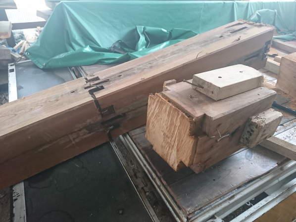 ケヤキ古材加工