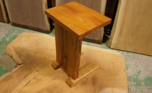 無垢板小テーブル