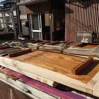 店舗用天然木無垢テーブル天板