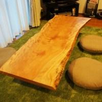 樺桜一枚板ローテーブル