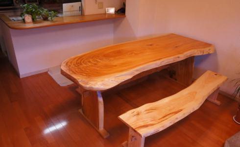 無垢一枚板ダイニングテーブルセット