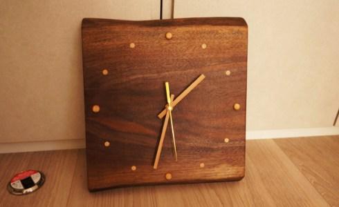 手づくり木の時計