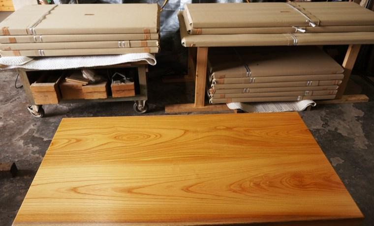ケヤキ天然木テーブル