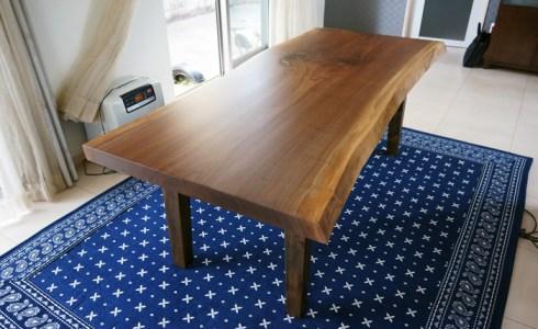 ブラックウォルナット一枚板テーブル