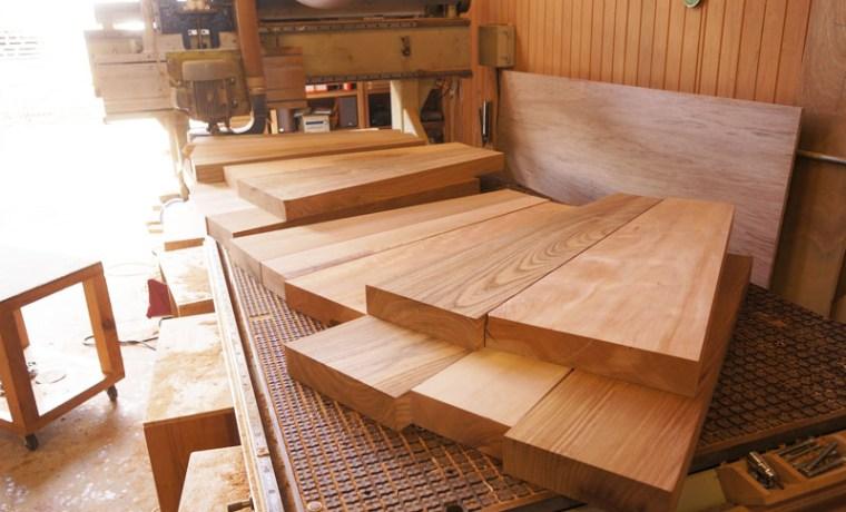 天然木カウンター