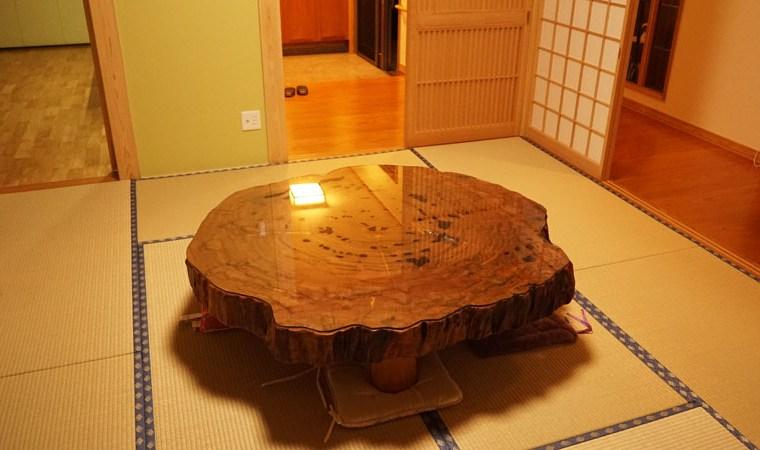 屋久杉輪切りテーブル