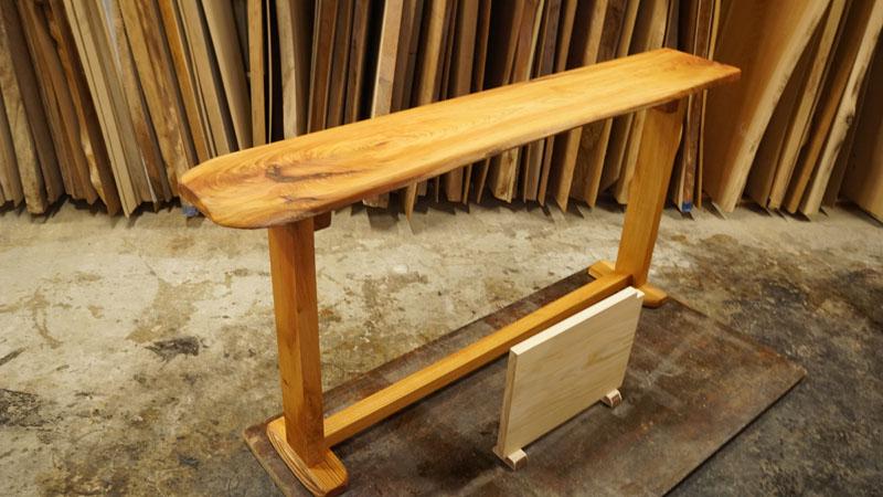 一枚板キッチンカウンターテーブル