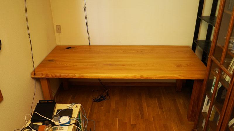 無垢一枚板作業テーブル