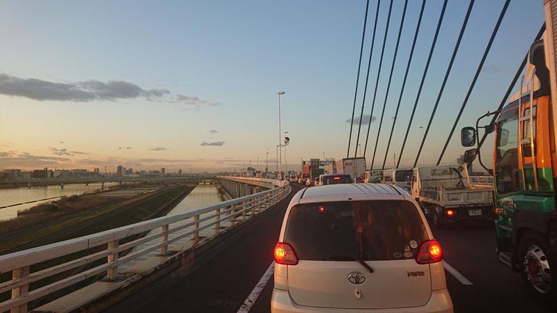 渋滞の帰り道